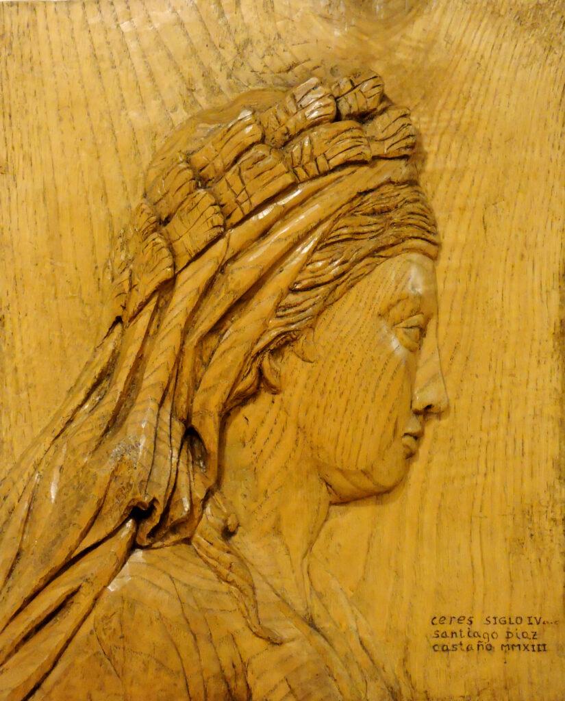 Ceres II. Alumno Escuela de Talla en madera Gubiarte