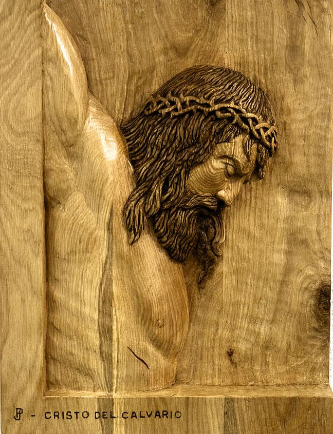 Cristo. Alumno Escuela de Talla en madera Gubiarte