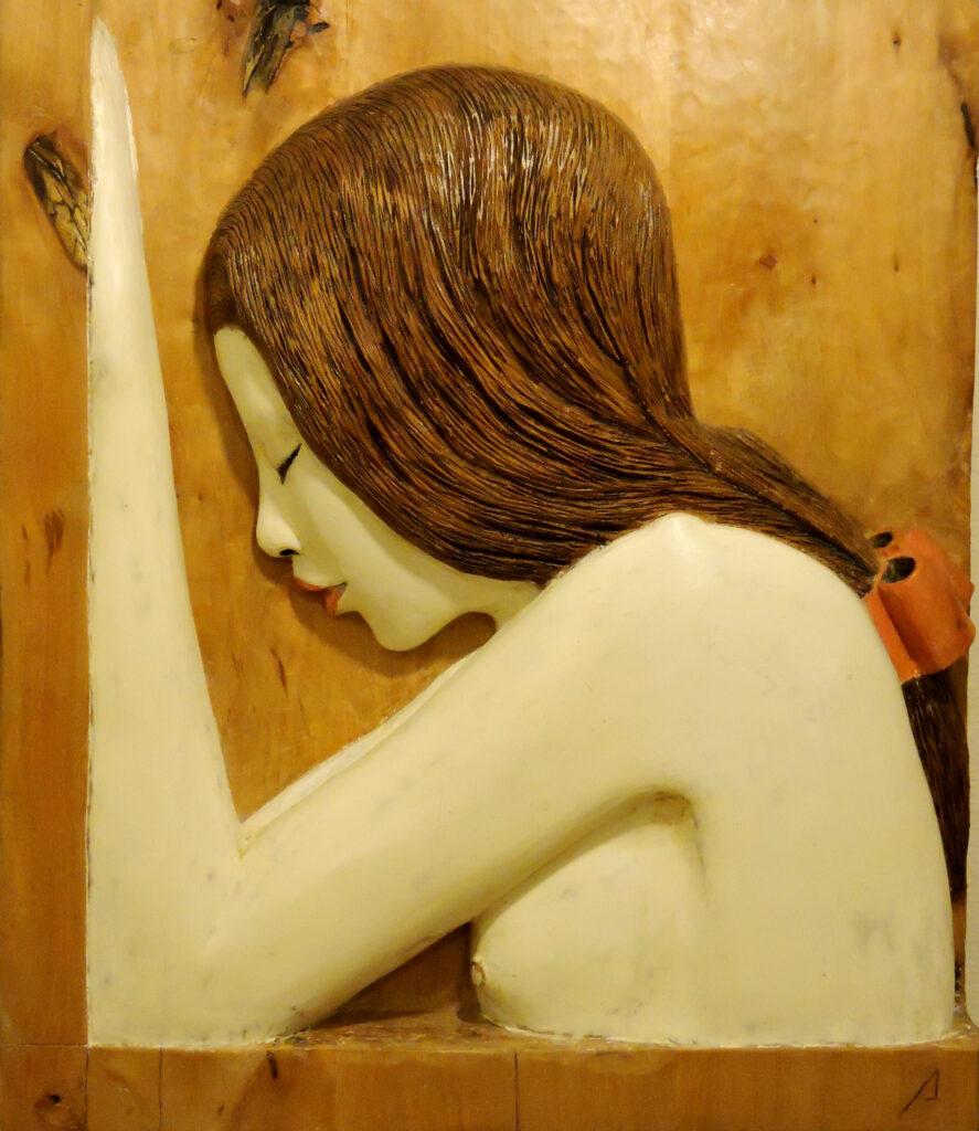 Geisha I. Alumno Escuela de Talla en madera Gubiarte