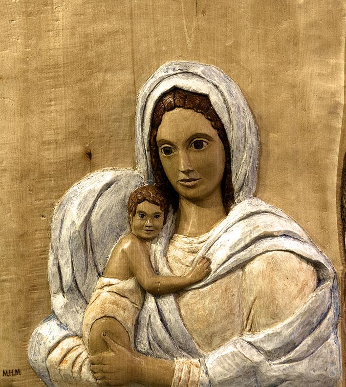Maternidad. Alumna Escuela de Talla en madera Gubiarte (2)