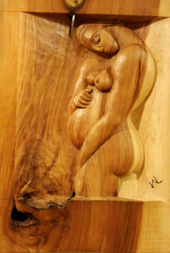 Maternidad. Alumno Escuela de Talla en madera Gubiarte