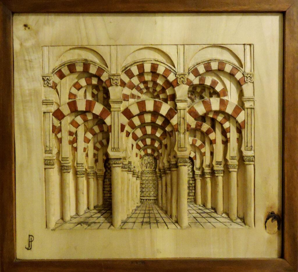 Mezquita de Cordoba. Alumno Escuela de Talla en madera Gubiarte