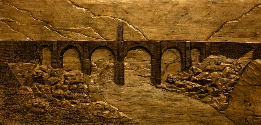 Puente de Alcantara. Alumno Escuela de Talla en madera Gubiarte