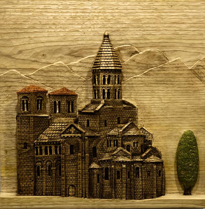 San Nactarie. Alumno Escuela de Talla en madera Gubiarte