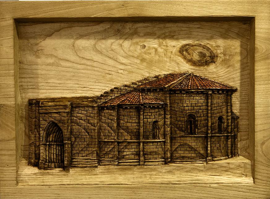 Santa Maria de Vargas. Alumno Escuela de Talla en madera Gubiarte