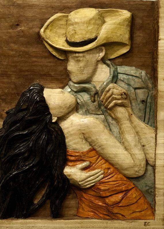 Tango. Alumna Escuela de Talla en madera Gubiarte