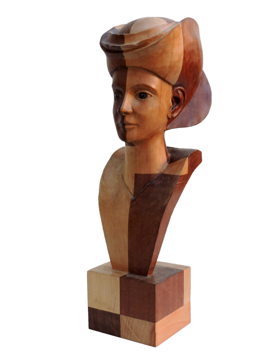 1631024985-Aliso y Sapelly. 16x51x19 cm. Talla en madera. Gubiarte