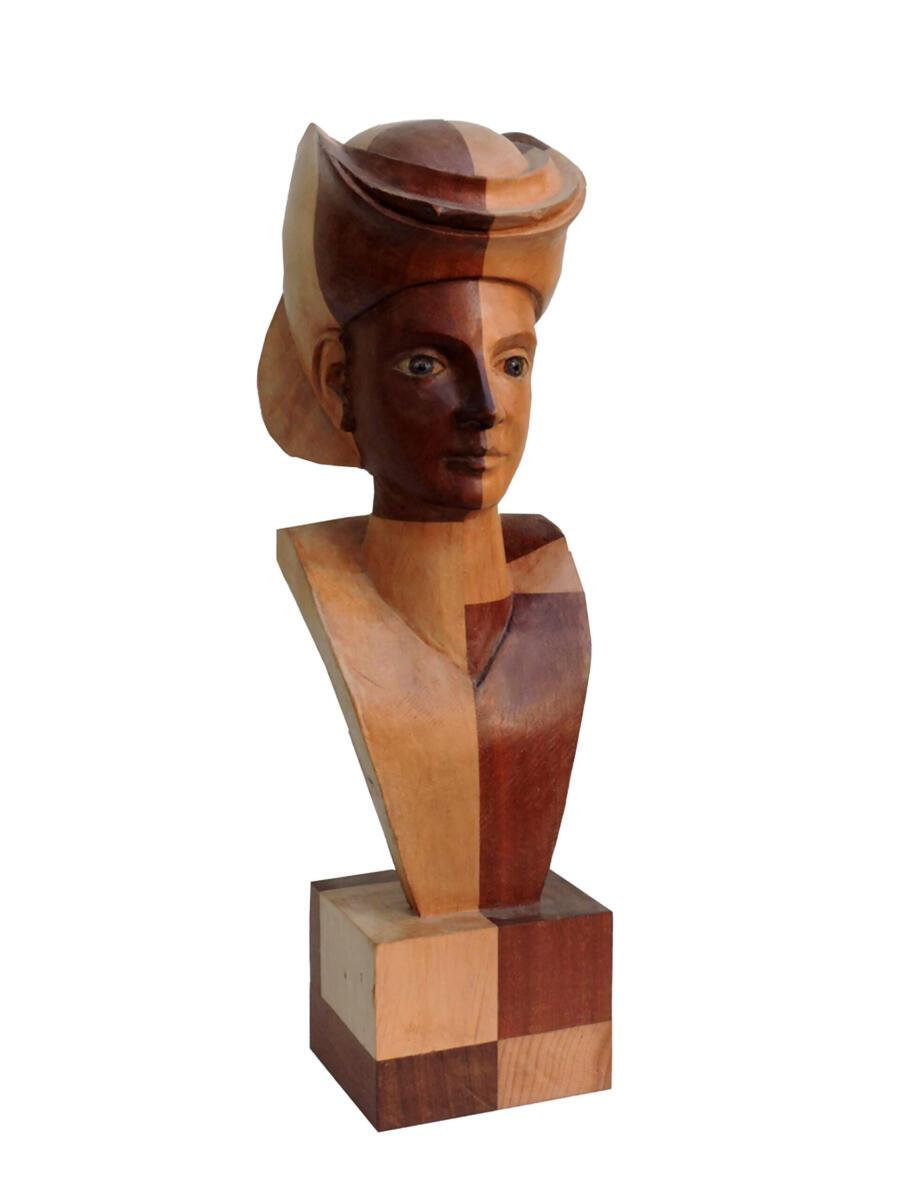 1631024988-Aliso y Sapelly I. 16x51x19 cm. Talla en madera. Gubiarte