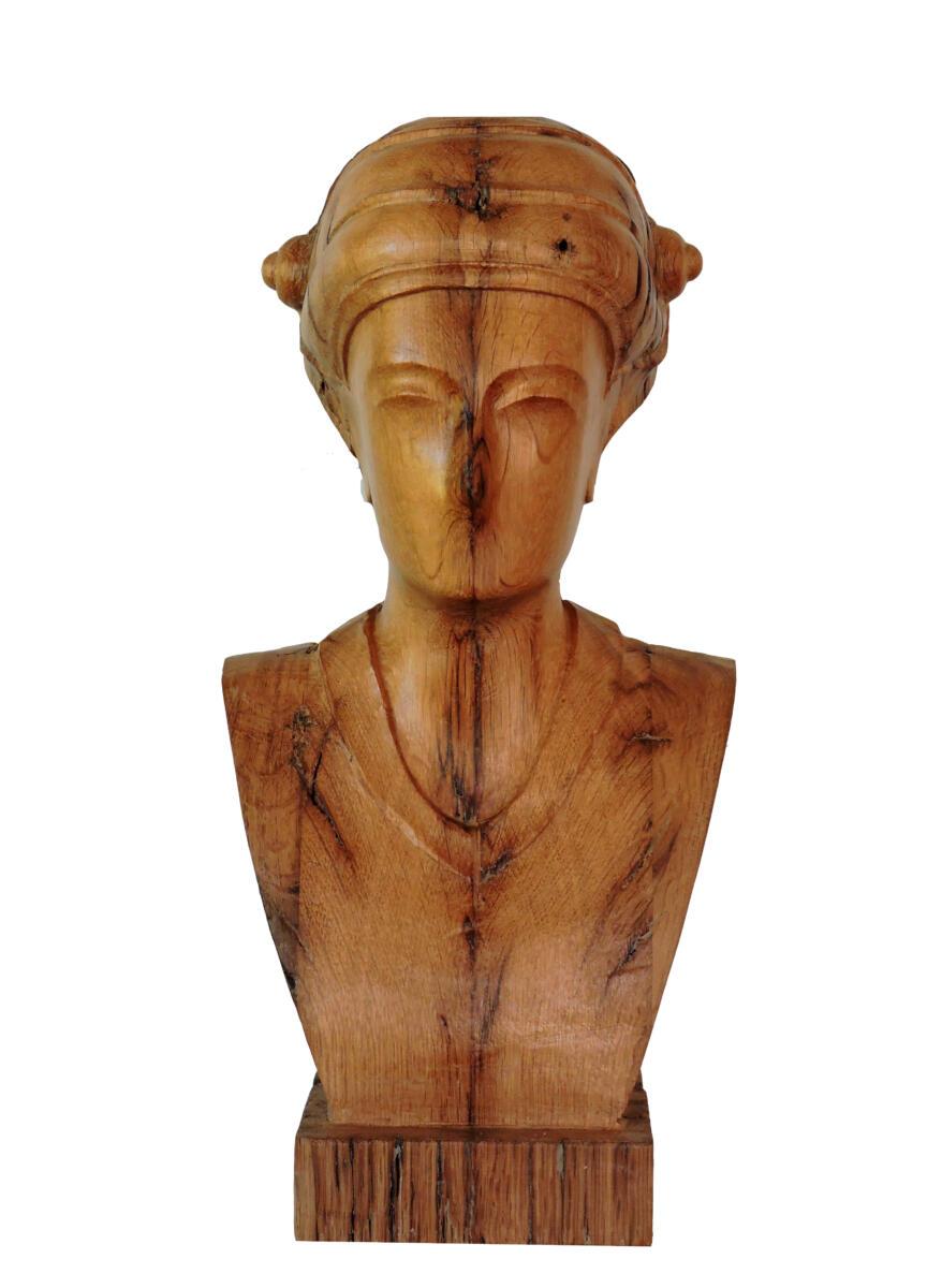 Imagen VI. Roble. 21,5x45x19 cm. Talla en madera. Gubiarte
