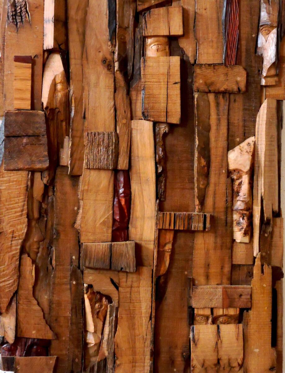 Tras la mirada. Roble.77x102 cm. Talla en madera. Gubiarte